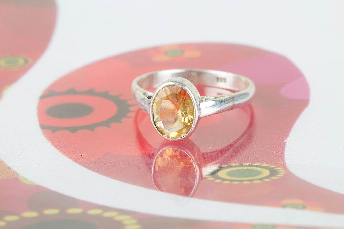 Amazing Handmade Citrine Gemstone 925 Silver Ring All Size