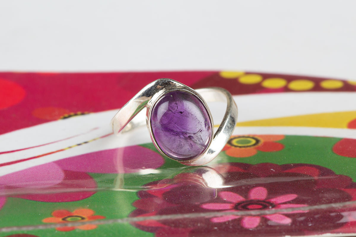 Best Silver Rings With Amethyst Genuine Stone