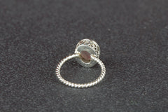 Amazing Rose Quartz Gemstone 925 Silver Ring