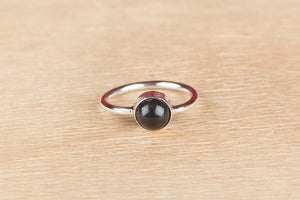 Natural Black Onyx 925 Silver Ring