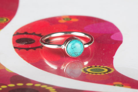 Handmade Turquoise 925 Silver Ring
