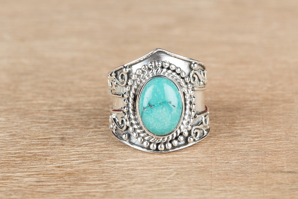 Beautiful Turquoise Gemstone 925 Silver Ring