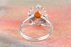 Gorgeous 925 Sterling Silver Carnelian Gemstone Ring