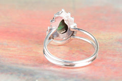 Gorgeous 925 Sterling Silver Green Turquoise Gemstone Ring