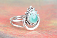 Wonderful 925 Sterling Silver Natural Turquoise Gemstone Ring