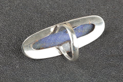 Unique 925 Sterling Silver Lapis Lazuli Gemstone Ring