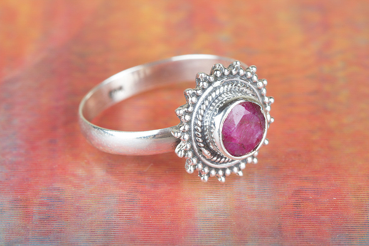 Awesome Handmade Ruby Gemstone 925 Silver Ring