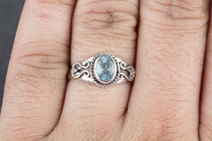 Amazing Handmade Blue Topaz Gemstone 925 Silver Ring
