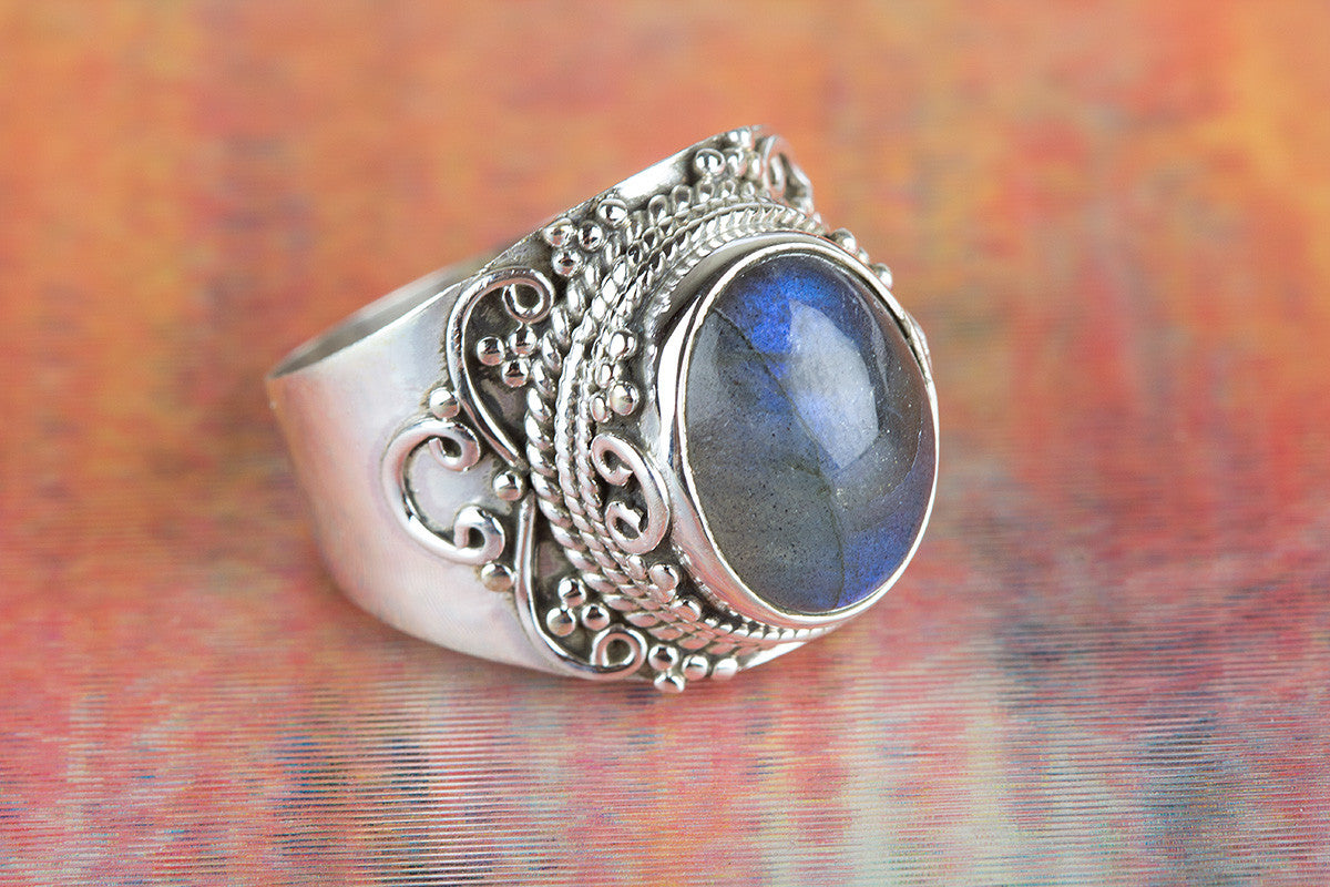 Labradorite Gemstone 925 Silver Ring