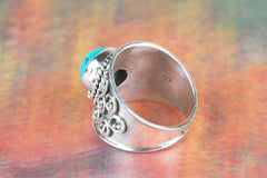 Turquoise Gemstone 925 Silver Ring