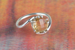 Citrine Gemstone 925 Silver Ring