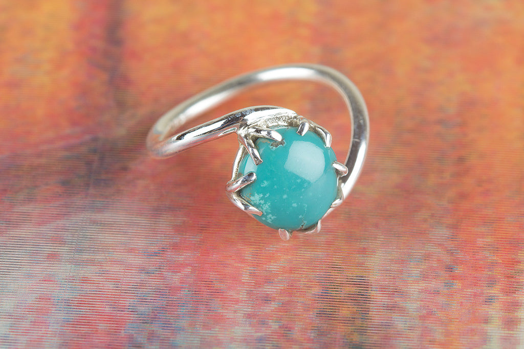 Natural Turqoise Gemstone 925 Silver Ring