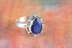 Beautiful Sapphire Gemstone Sterling Silver Ring