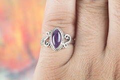 Wonderful Amethyst Gemstone Sterling Silver Ring