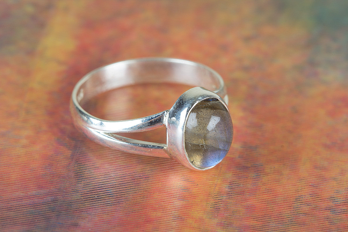 925 Labradorite Gemstone Silver Ring