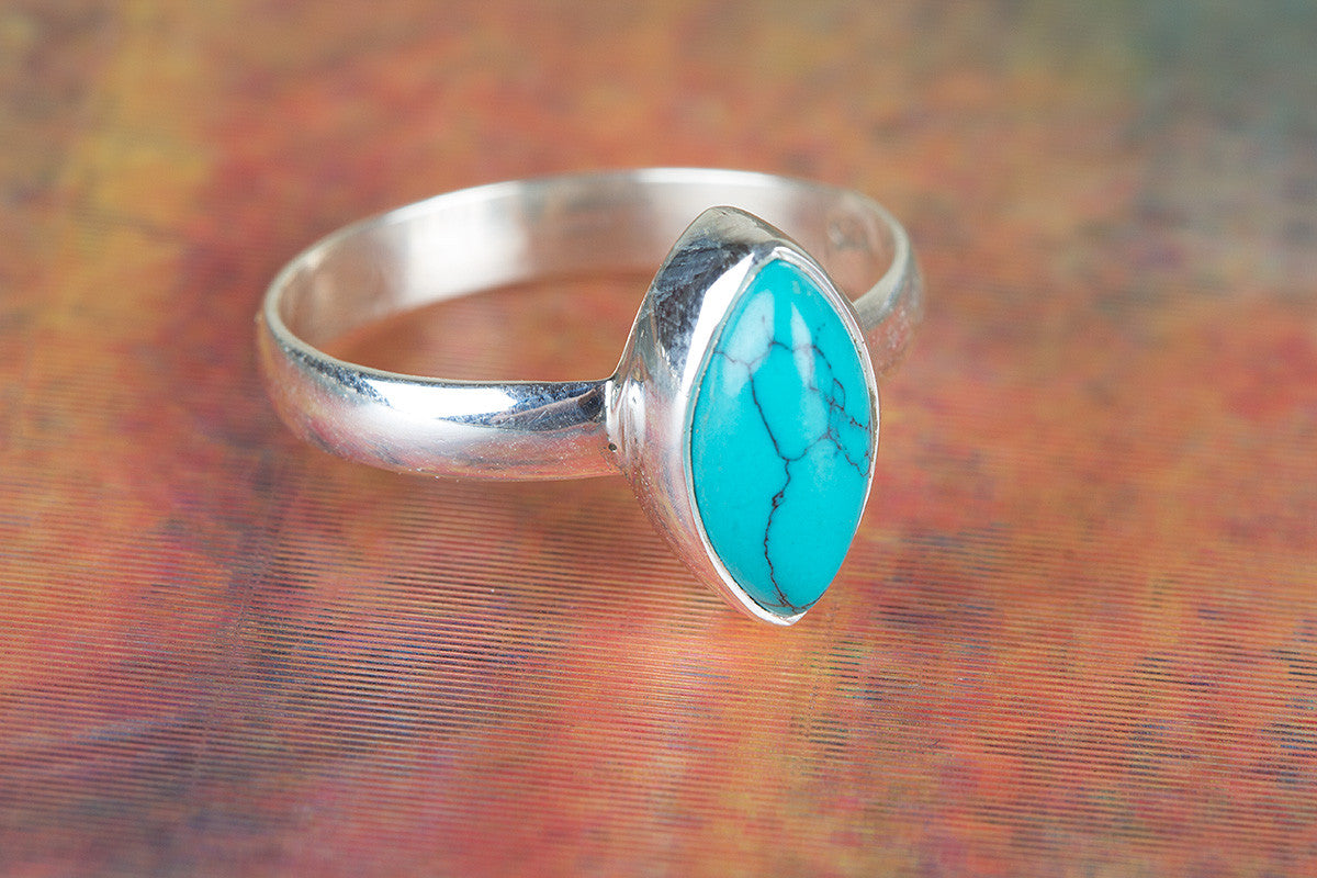 925 Turquoise Gemstone Silver Ring