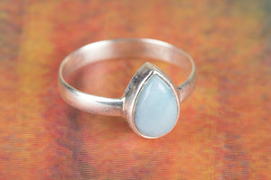 925 Larimar Gemstone Silver Ring