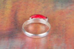 Awesome Handmade Coral Gemstone 925 Sterling Silver Ring