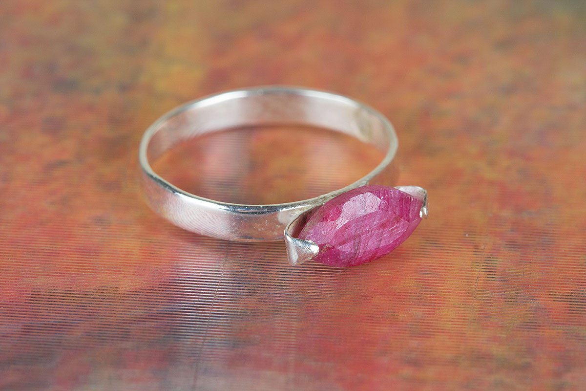 Amazing Handmade Ruby Gemstone 925 Sterling Silver Ring