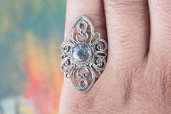 Handmade Blue Topaz Gemstone 925 Sterling Silver Ring
