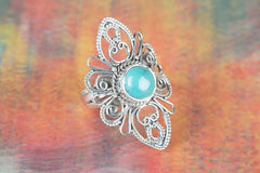 Handmade Natural Turquoise Gemstone 925 Sterling Silver Ring