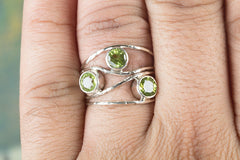 Fantastic Handmade Faceted Peridot Gemstone 925 Sterling Silver Ring