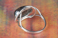 Wonderful Black Rutile Gemstone 925 Silver Ring