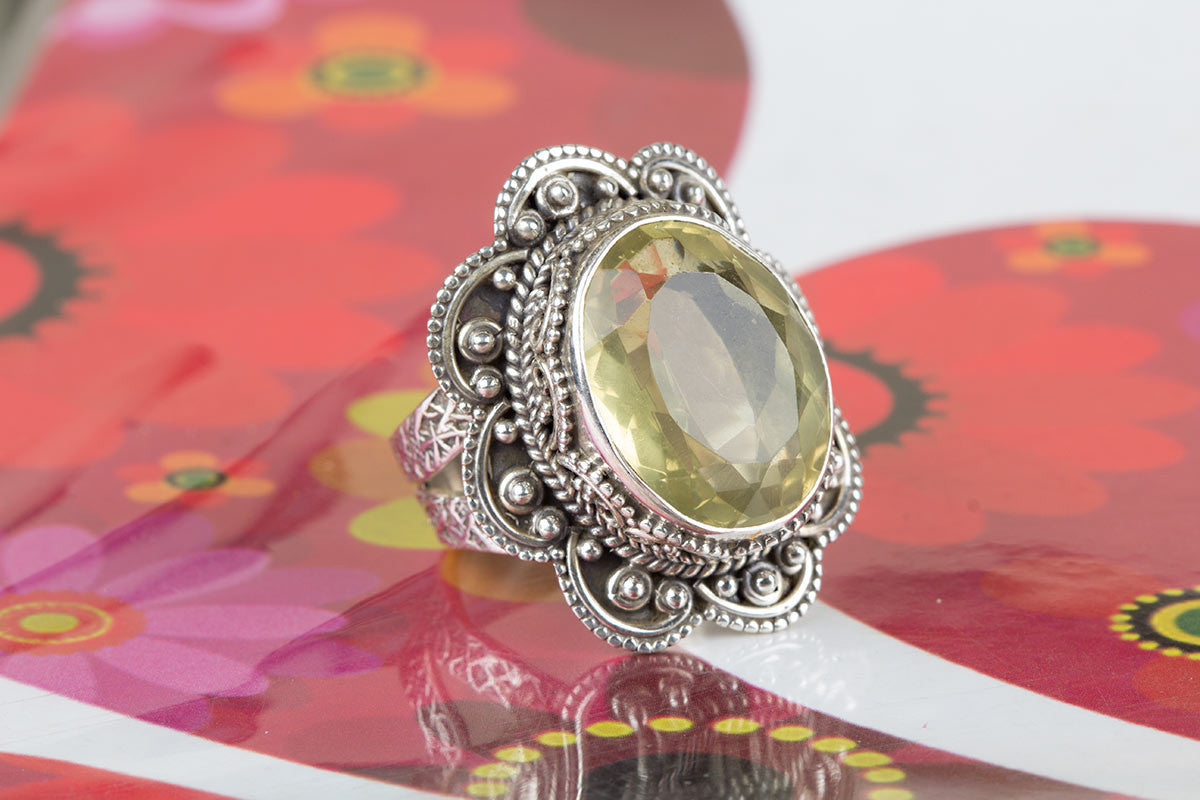 Amazing Handmade Sterling Silver Citrine Ring
