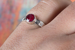 Awesome 925 Sterling Silver Ruby Gemstone Handmade Ring