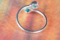 Amazing 925 Sterling Silver Turquoise Gemstone Handmade Ring