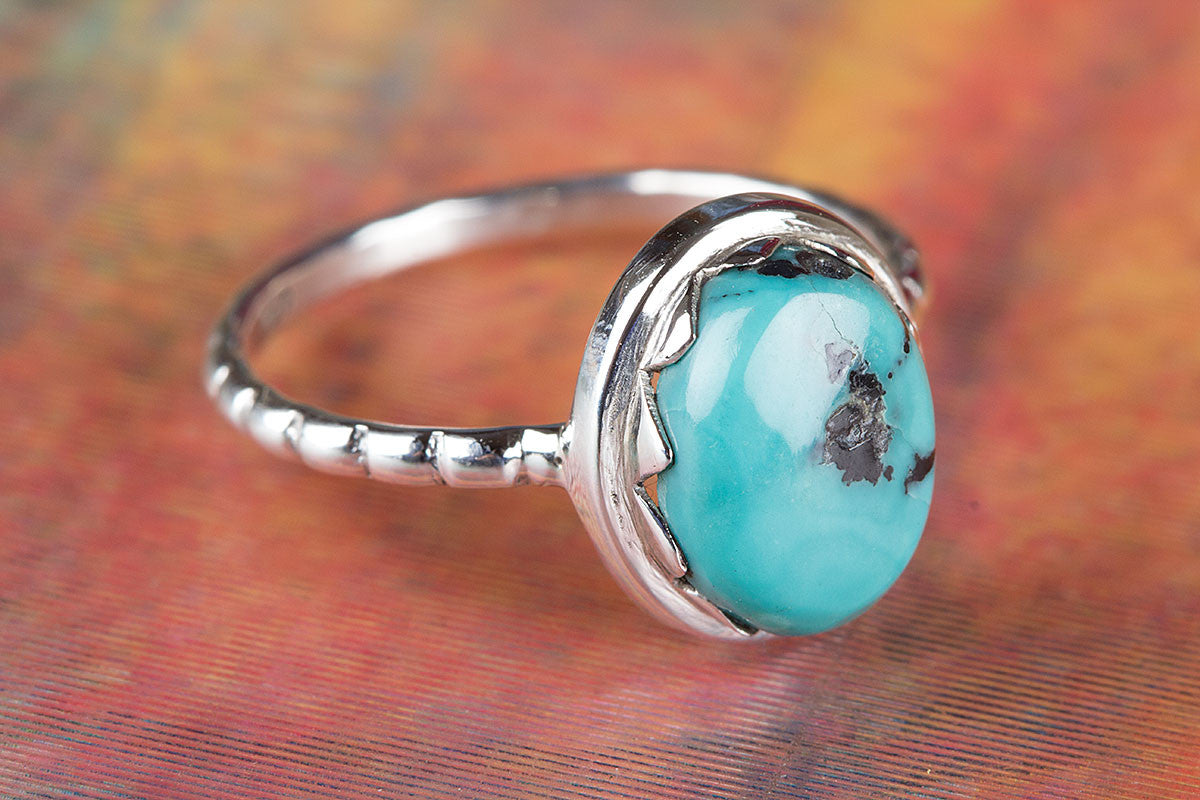 Beautiful 925 Sterling Silver Natural Turquoise Gemstone Handmade Ring