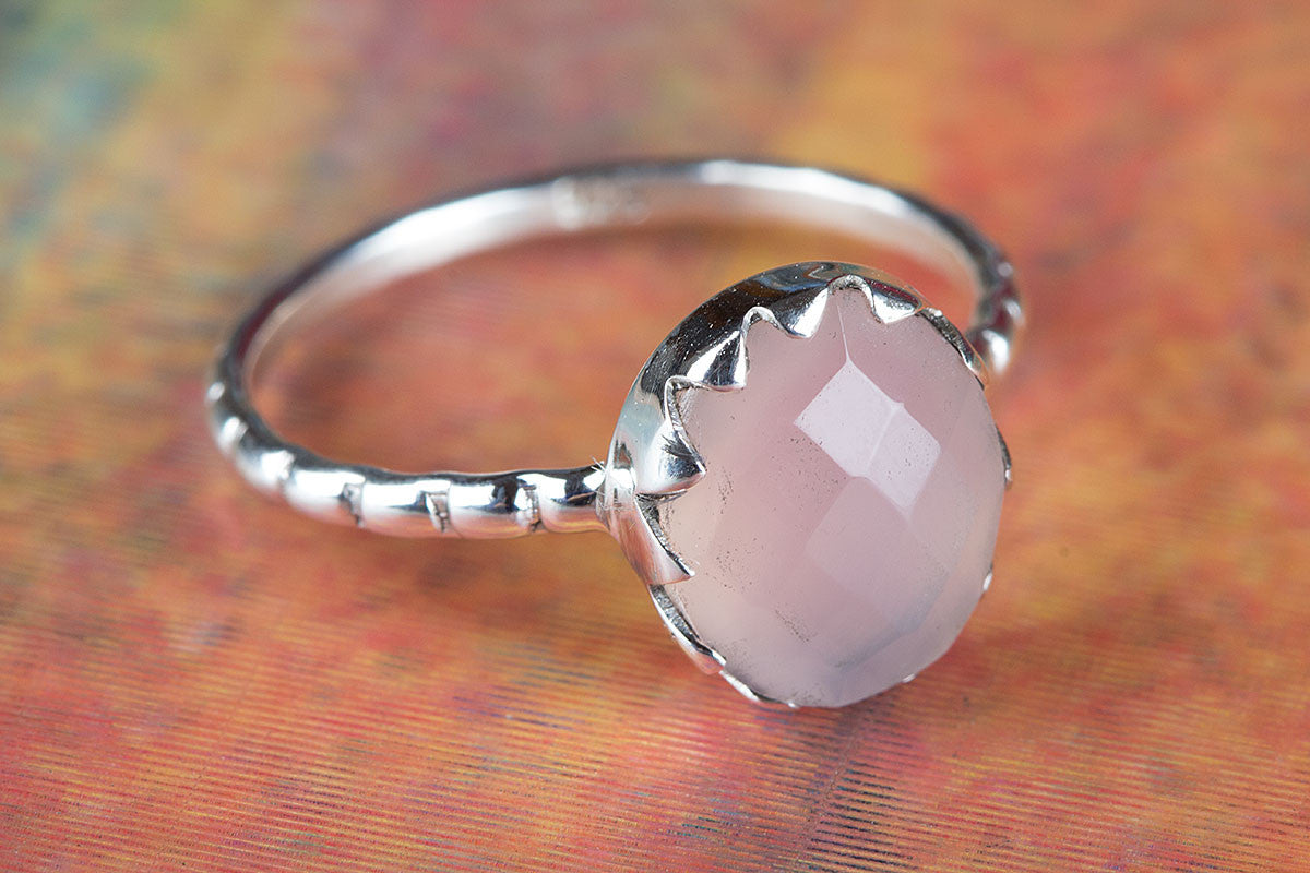 Rose Quartz Ring, Pure 925 Sterling Silver Ring, Statement Ring, Boho Ring, Gypsy Ring, Healing Ring, Bridal Ring, Silver Rose Quartz Ring