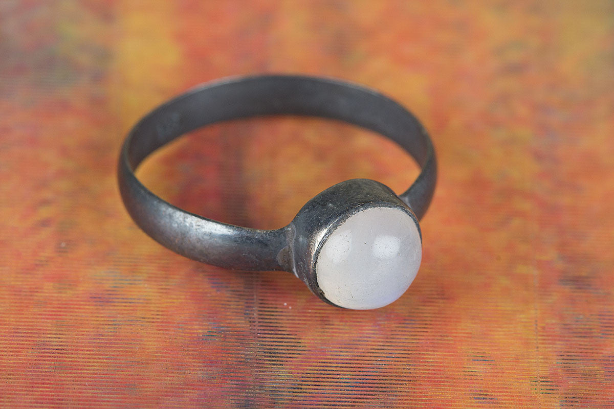 Amazing Handmade 925 Silver Rainbow Moonstone Gemstone Ring