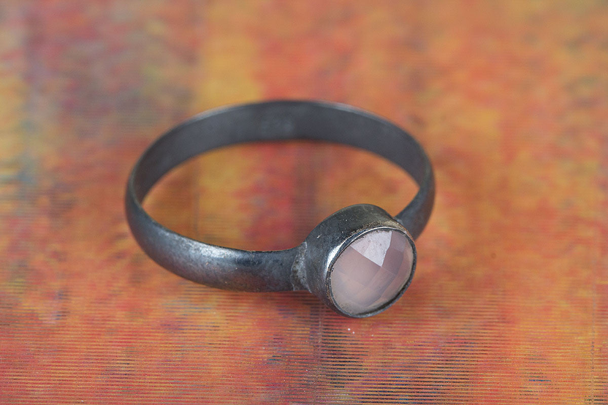 Amazing Handmade 925 Silver Faceted Rose Quartz Gemstone Ring
