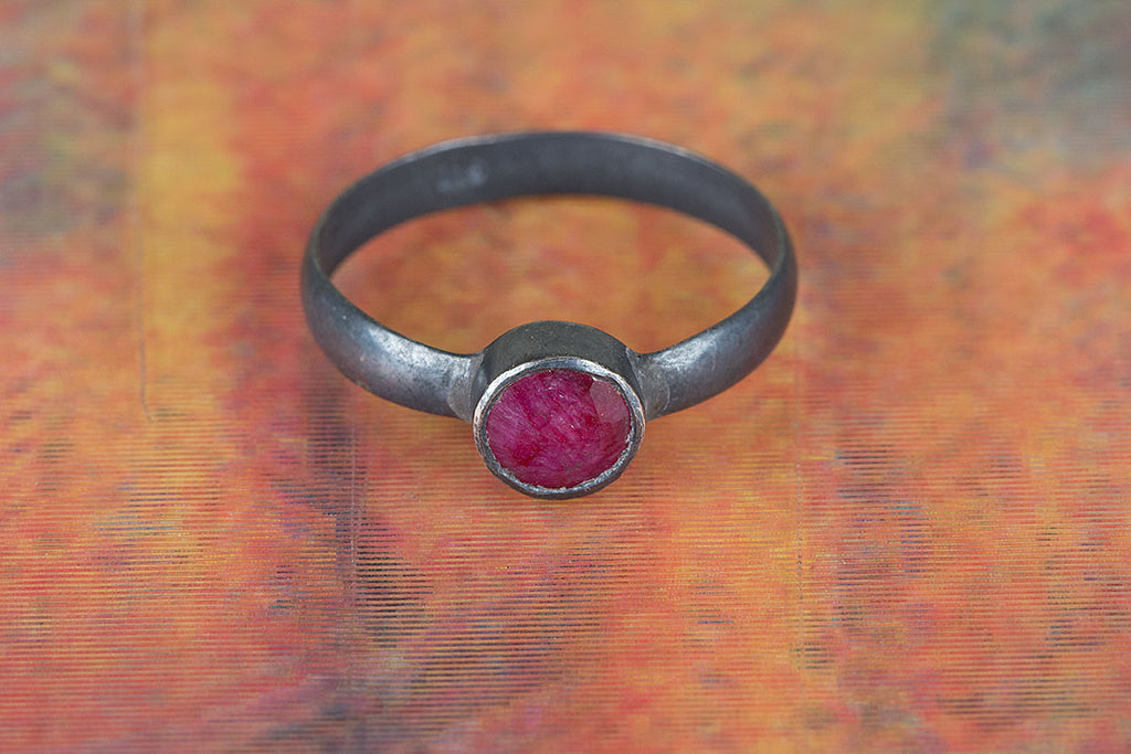 Stunning Handmade 925 Silver Ruby Gemstone Ring