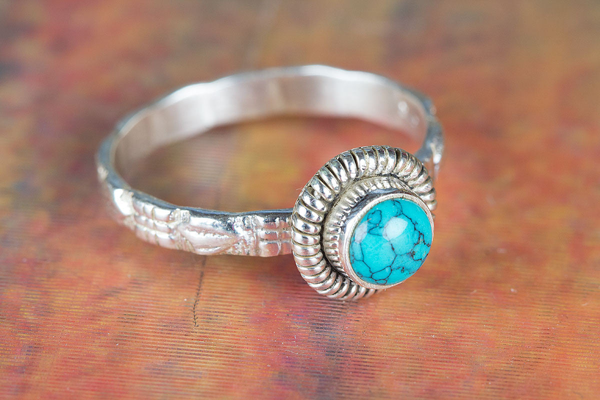 Amazing Turquoise Gemstone 925 Sterling Silver Ring