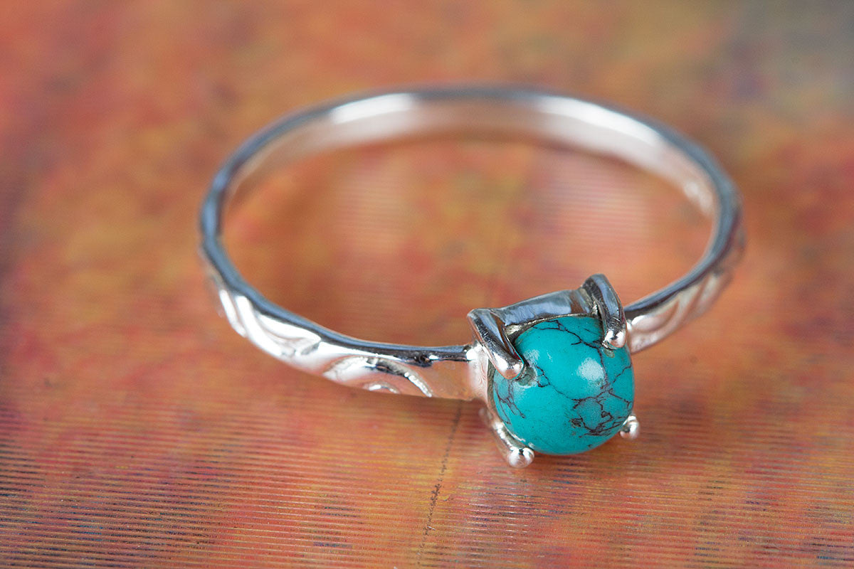 925 Sterling Silver Turquoise Gemstone Handmade Ring