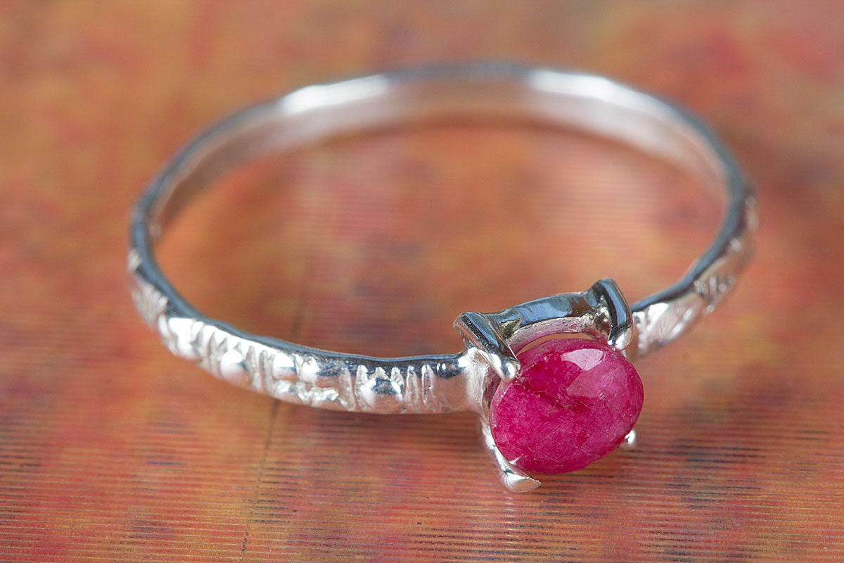 Amazing Ruby Gemstone Handmade 925 Sterling Silver Ring