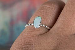 Wonderful Australian Opal Gemstone 925 Sterling Silver Ring