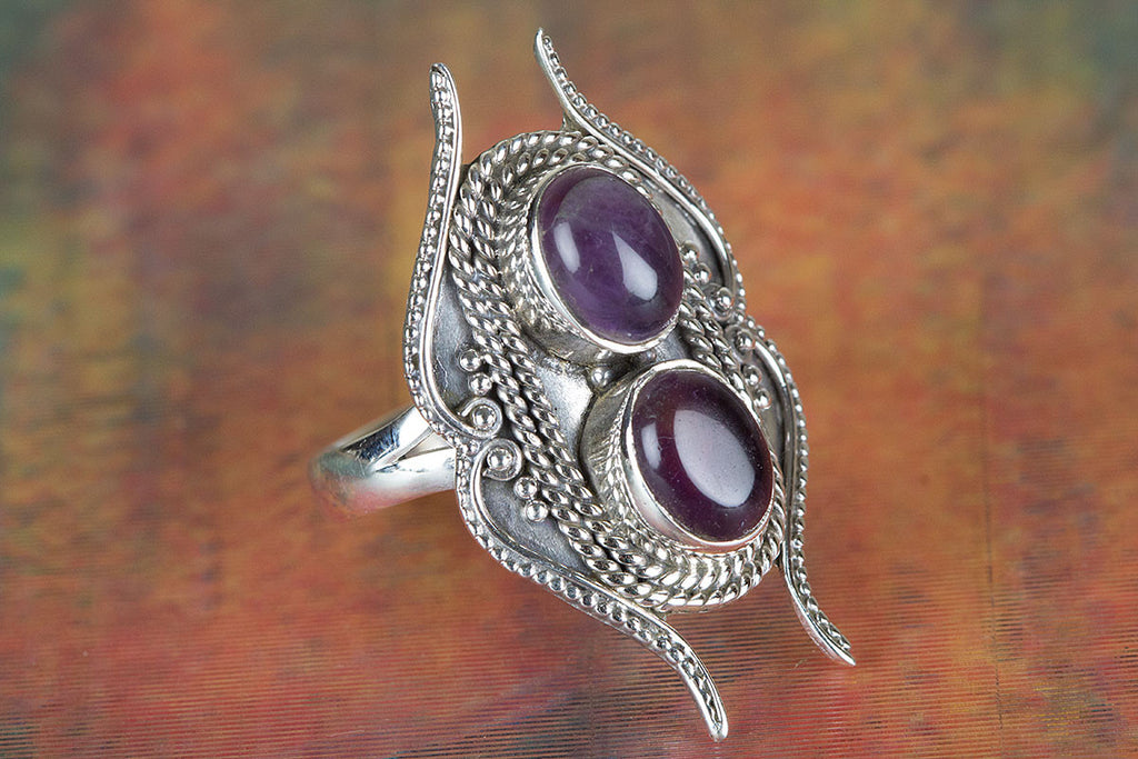 Amethsyt Ring In Sterling Silver