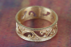 Gold Plated 925 Handmade Sterling Silver Ring