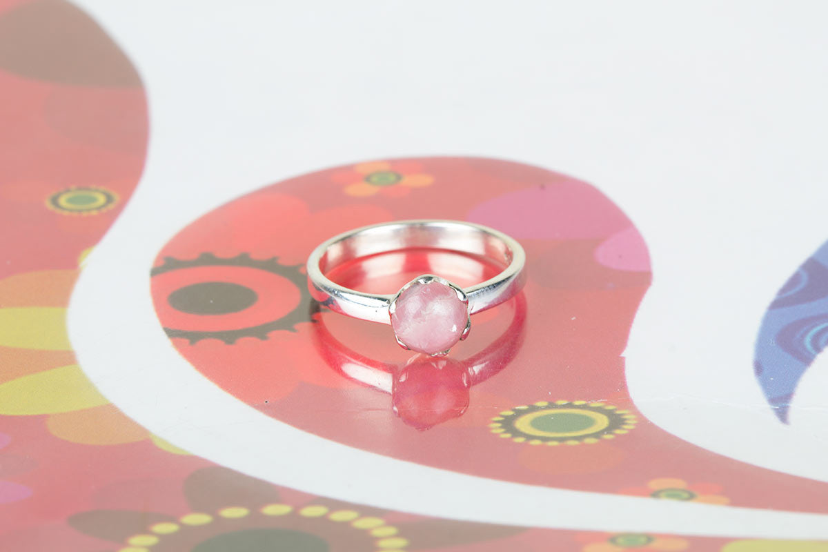 Guaranteed Genuine Rose Quartz Gemstones Ring