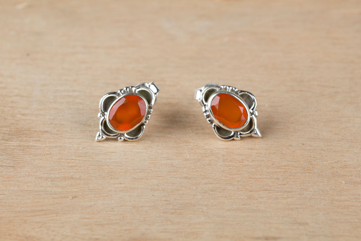 Best Selling Orange Carnelian Studs For Sale