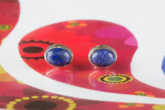 Unique Lapis Lazuli Stud Earrings