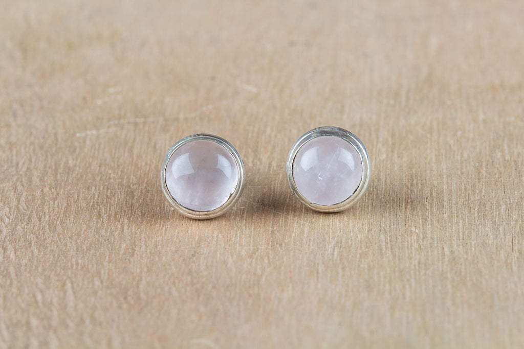 Hot Special Rose Quartz Studs Earrings