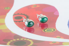 Exclusive Green Malachite Jewelry Studs