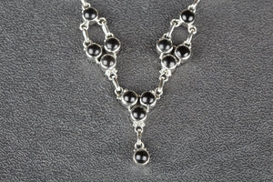 Amazing 925 Silver Black Onyx Necklace