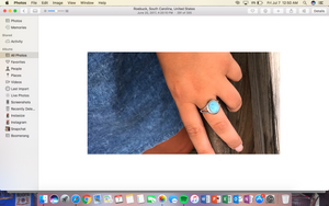 Larimar Ring On Request ( Haley Gosnell) -Pure Sterling Silver Ring With Larimar Gemstone Ring Size 6
