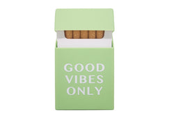 Cigaretetui Good Vibes (Grøn)