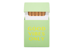 Cigaretetui Good Vibes (Gul)